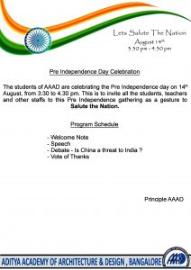 AAAD-Pre Independence Day Celebration