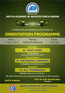 Invitation for Orientation Programme