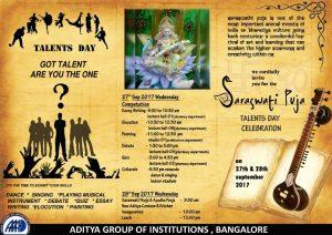 AAAD-Saraswati Puja & Talents Day Celebration 27th & 28th Sept 2017