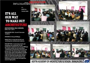 Motivational Talk & Workshop was Conducted for the Architecture Students by Ar.Kavya M Bhege